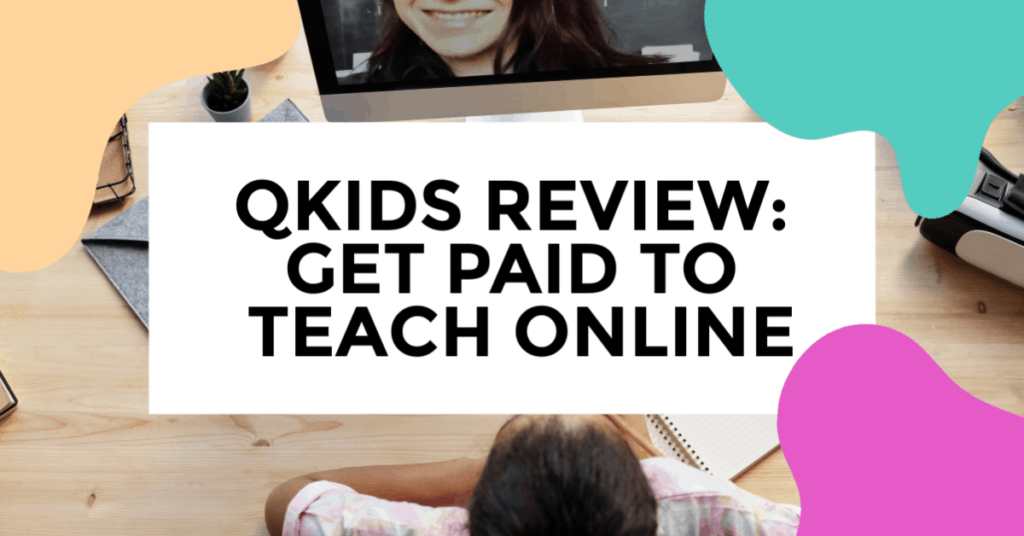 qkids review. featured image of woman working on her laptop on her desk.