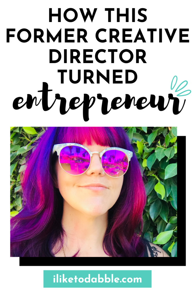 Image of Megan. Read Megan's story about how she went from working in the entertainment industry as a creative director to now running her own creative business #graphicdesigner #entrepreneur