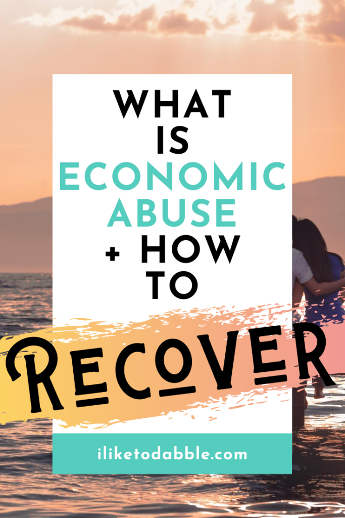 what is economic abuse and how to recover from it. Image of woman in ocean.