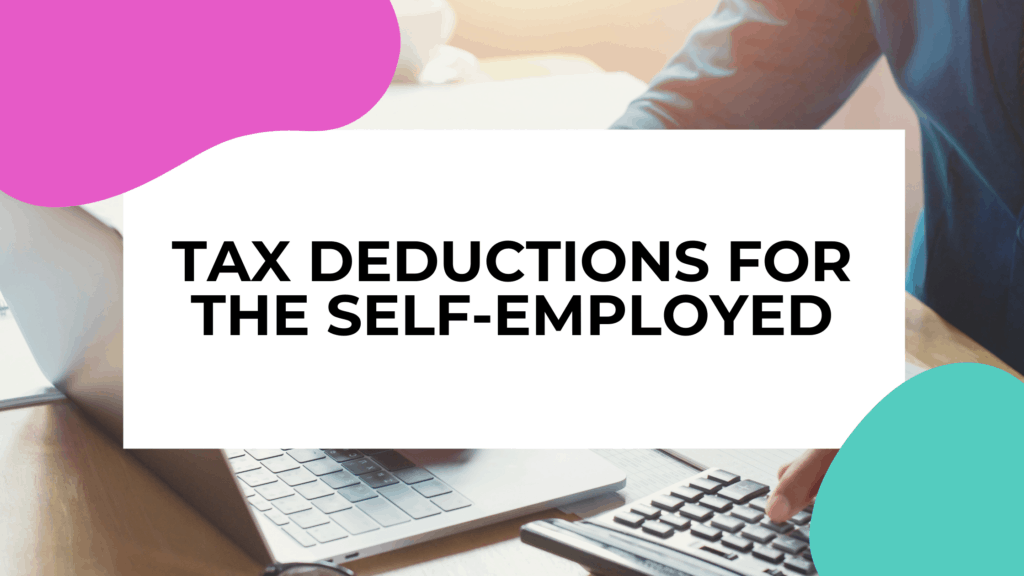 featured image with someone doing their taxes on a laptop in the background of title text