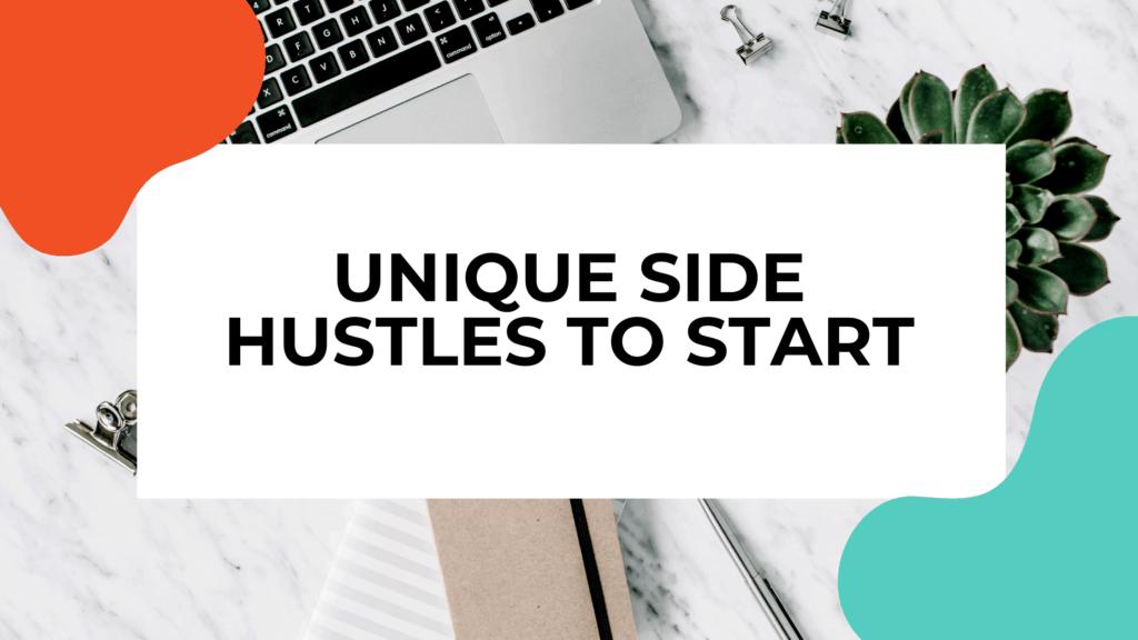 unique side hustles featured image
