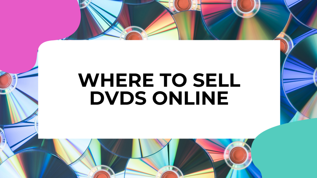 used dvds with title text overlay