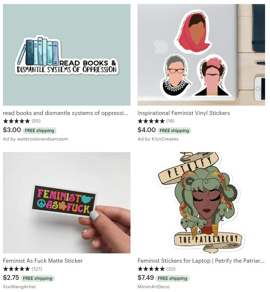 feminist stickers